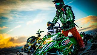 Top Secret Shop Snowmobile Desktop Wallpaper Green Rider